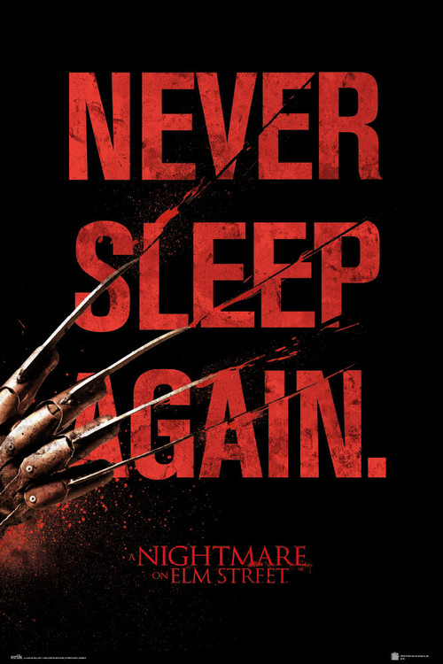 Plakát Noční můra v Elm Street - Never Sleep Again