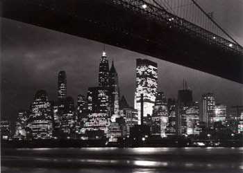 Plakat Nowy Jork night - skyline