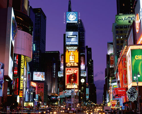 Plakat Nowy Jork - Times square