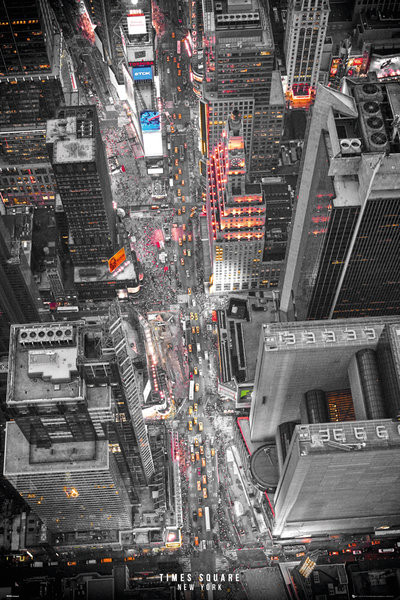 Plakat Nowy Jork - Times Square Lights