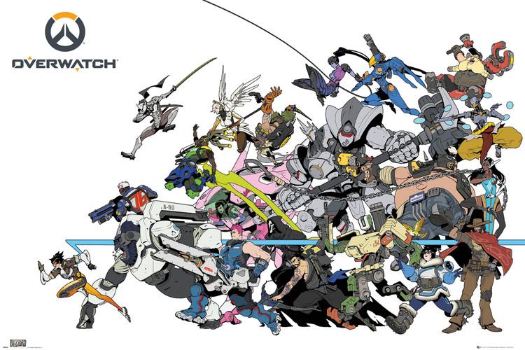 Plakat Overwatch - Battle