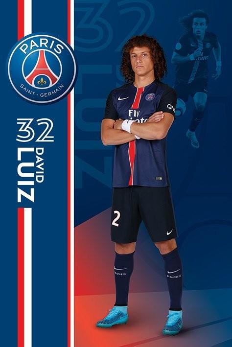 Plakát Paris Saint-Germain FC - David Luiz