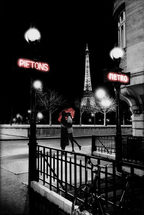 Plakát Paříž - metro
