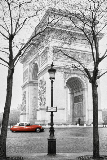 Paříž - triumphal arch  plakát, obraz
