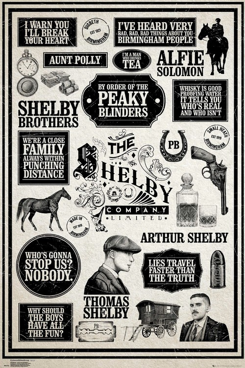 Plakát  Peaky Blinders - Infographic