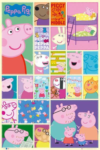 Plakát PEPPA PIG - grid