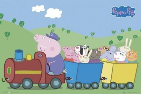 Plakat PEPPA PIG - train
