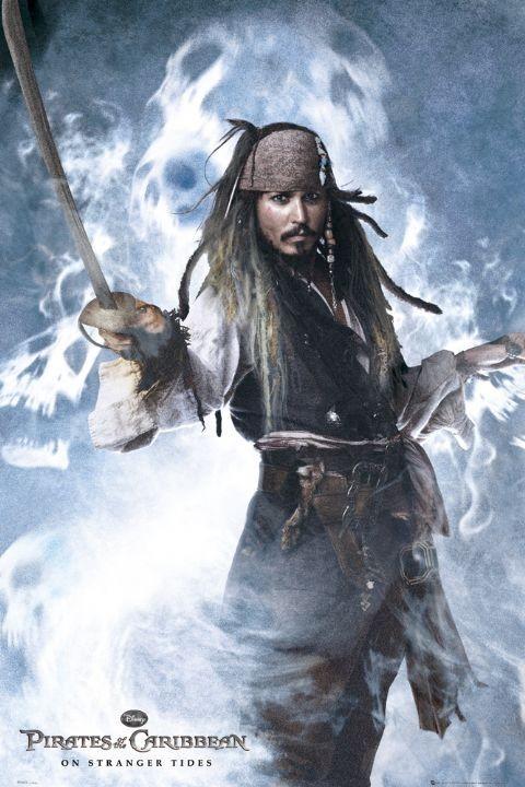 PIRÁTI Z KARIBIKU 4 - jack sword plakát, obraz