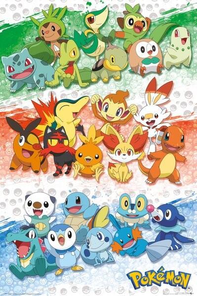 Plakát Pokemon - First Partners