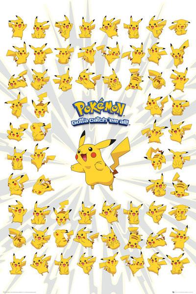 Plakát  Pokemon - pikachu