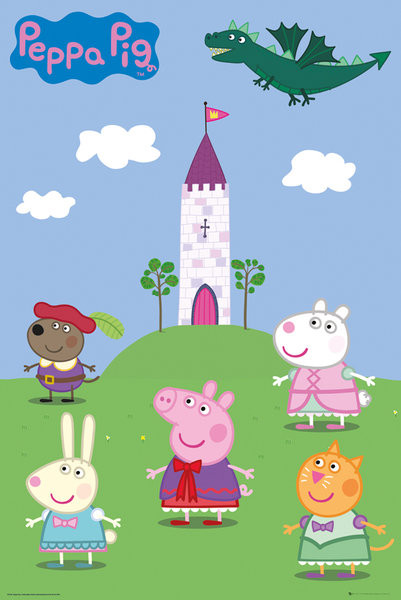 Plakát Prasátko Peppa - Fairytale