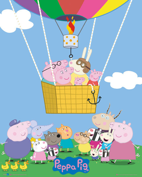Plakát Prasátko Peppa - Peppa Pig - Super George