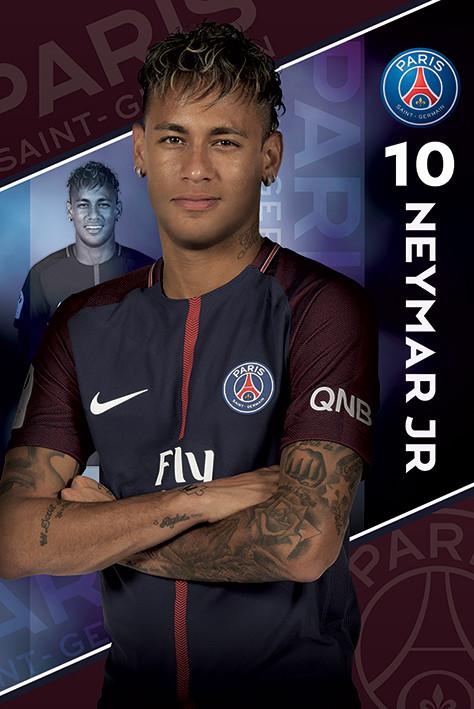 Plakat  PSG - Neymar 17/18