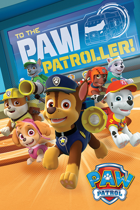 Plakat  Psi patrol - To The Paw Patroller