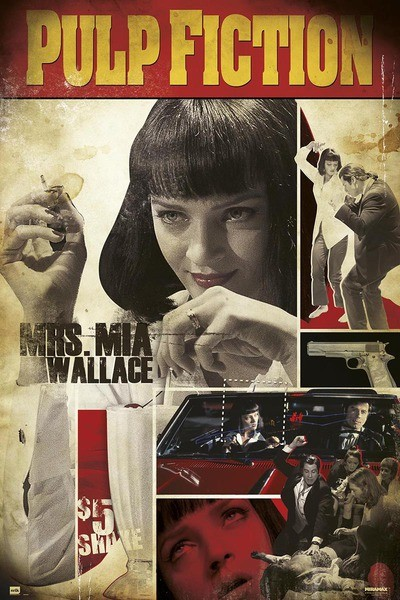 Plakat Pulp Fiction - Mrs. Mia Wallac