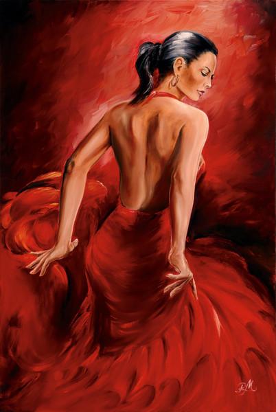 Plakát R. Magrini Flamenco - Red Dancer