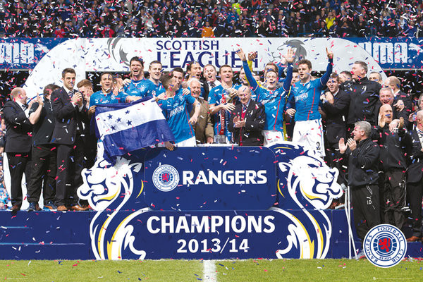 Plakat Rangers FC - League One Winners 13/24