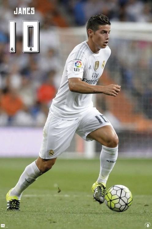 Plakat Real Madrid 2015/2016 - James accion