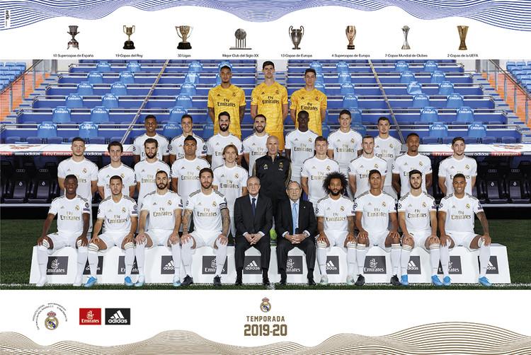 Plakát  Real Madrid 2019/2020 - Team