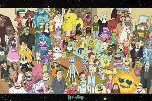 Plakát  Rick and Morty - Cast