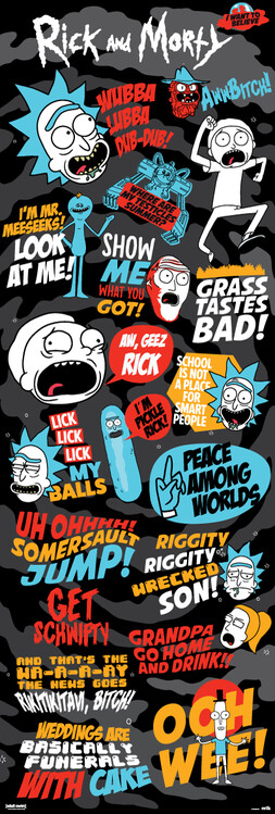 Plakát Rick and Morty - Frases