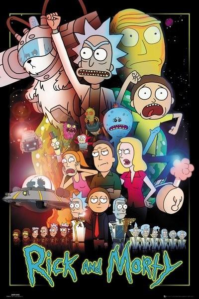 Plakát Rick and Morty - Wars