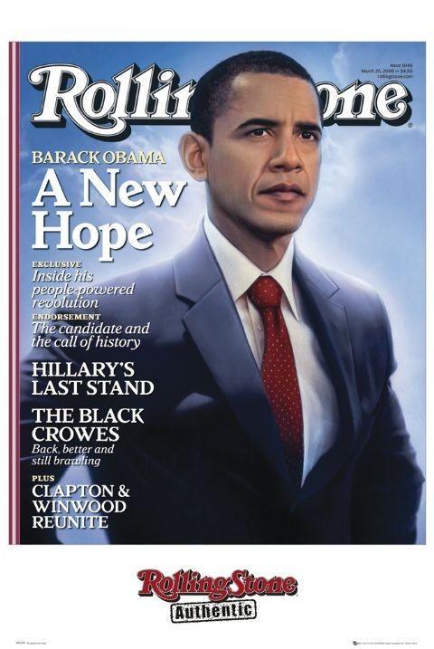 Plakát  Rolling stone - obama