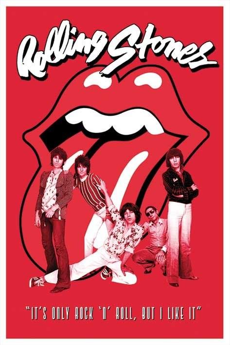 Plakát  Rolling Stones - it's only Rock n roll