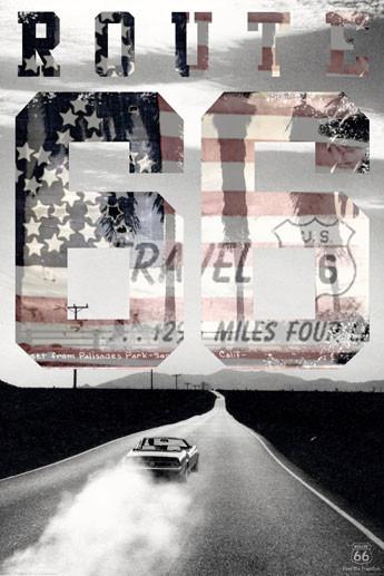 Plakát Route 66 - usa