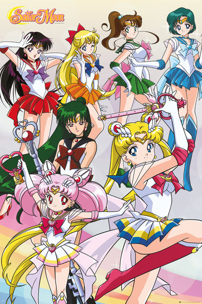 Plakat Sailor Moon - Team