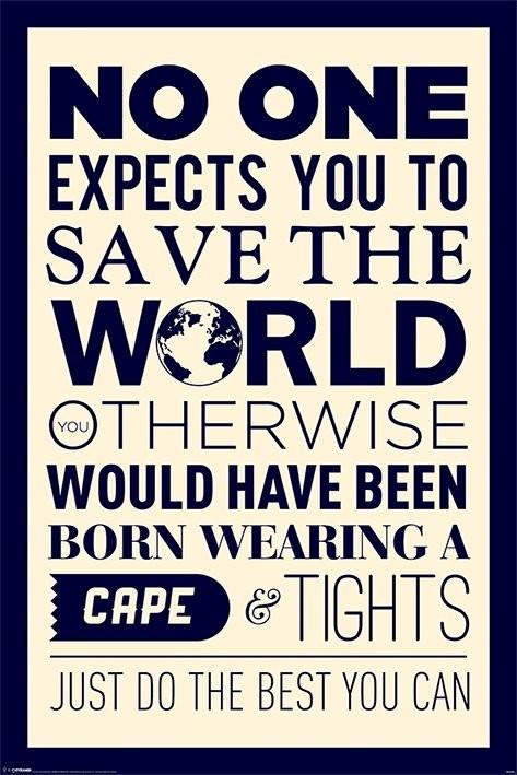 Plakát Save the world