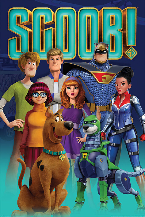 Plakát Scoob! - Scooby Gang and Falcon Force
