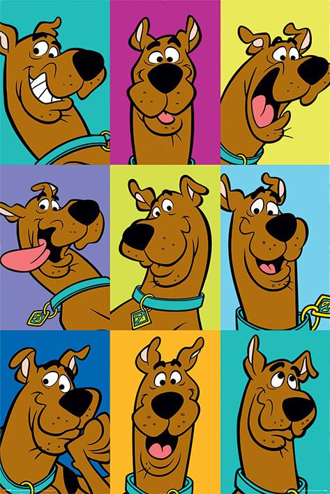 Plakát Scooby Doo - The Many Faces of Scooby Doo