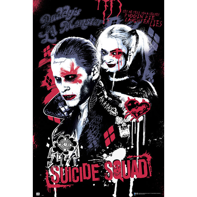 Plakát  Sebevražedný oddíl - Suicide Squad - Joker & Harley Quinn