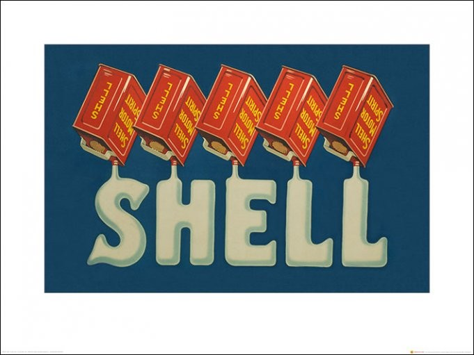 Reprodukcja Shell - Five Cans 'Shell', 1930