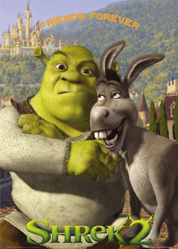 Plakat SHREK 2 - friends forever