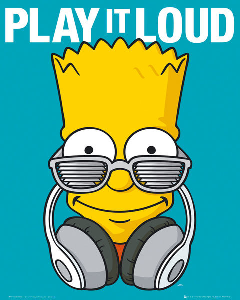 Simpsonovi Play It Loud Plak 225 T Obraz Na Zeď Posters Cz