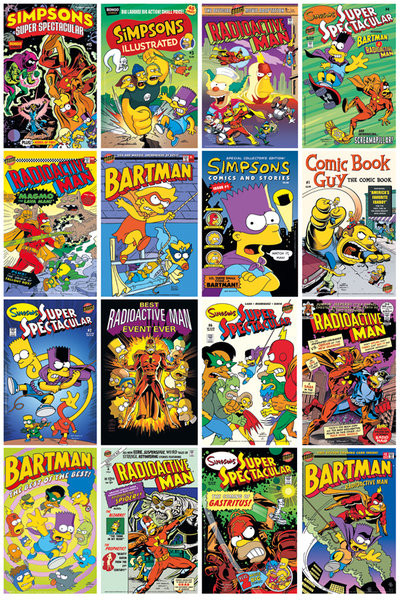 Plakat SIMPSONS - SIMPSONOWIE - Comic Covers