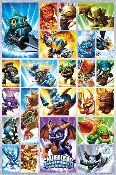 Plakát Skylanders Spyro - grid