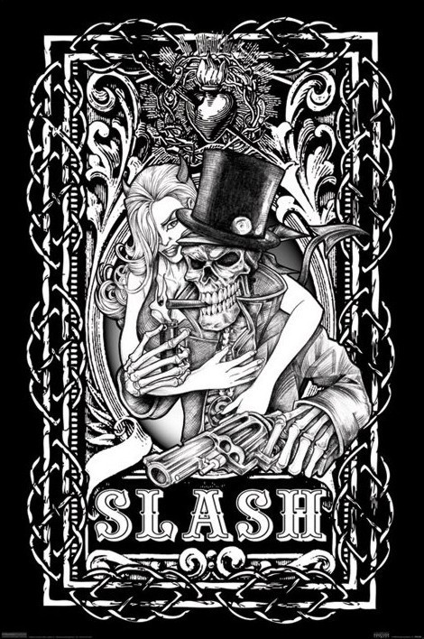 Plakát Slash - skeleton