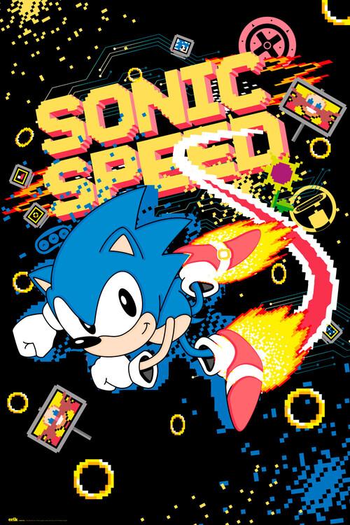 Plakát Sonic the Hedgehog - Speed