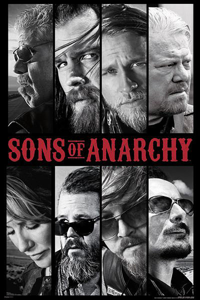 Plakat SONS OF ANARCHY - SYNOWIE ANARCHII - collage