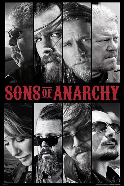 Plakát SONS OF ANARCHY - ZÁKON GANGU - collage