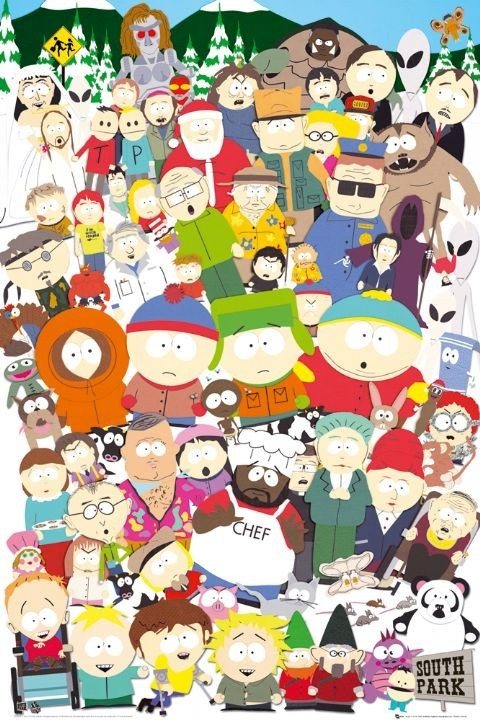 Plakát  SOUTH PARK - cast