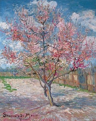 Reprodukcja  Souvenir de Mauve - Pink Peach Tree in Blossom, 1888
