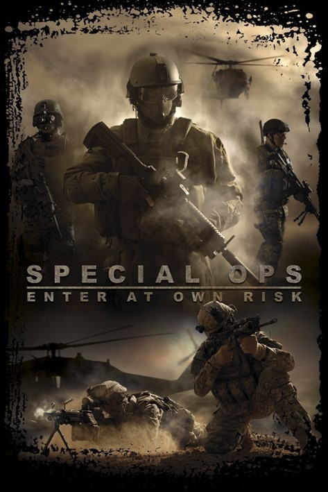 Plakát Special Ops -enter at own risk