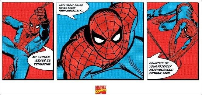 Reprodukcja Spider-Man - Triptych