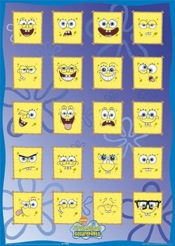 Plakat SPONGEBOB - face off