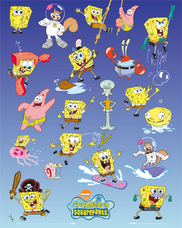 Plakat SPONGEBOB - multiple