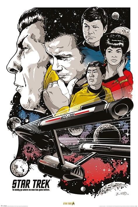 Plakát Star Trek - Boldly Go  50th Anniversary